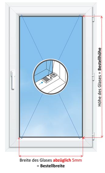 Ausmessen des Fensters für die Bestellung eines Plissees