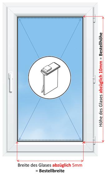 Fenster richtig messen für die Montage mit Klebeplatten am Rahmen